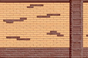 Multicolor brick lay texture