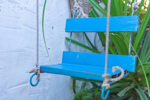 Rope swing under tree