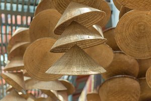 straw hat or conical Vietnamese hats