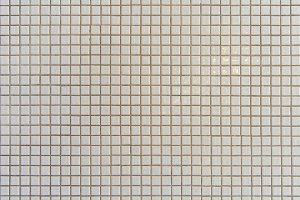 Mosaic tiles wall texture of white