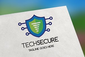 TechSecure (Letter T) Logo