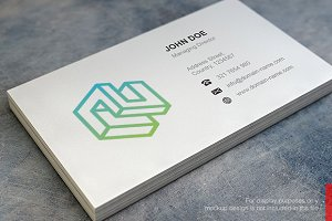 Cube Logo and Simple Business Card