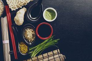 Asian Ingredients Food Top View Yumm
