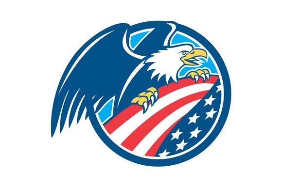 Eagle American Flag Png