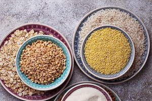 Assortment of grain