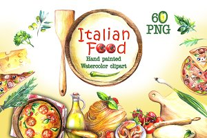 Food Watercolor Clip Art