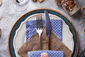 Marine style table setting