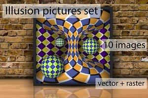 Illusion pictures set