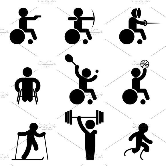 Sport paralympic games icons