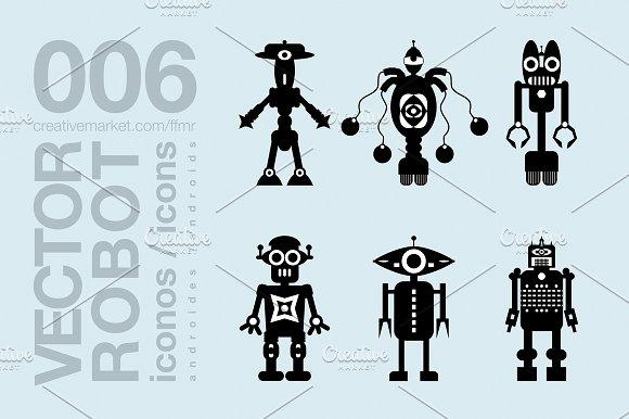 Robots Flat Icons 008