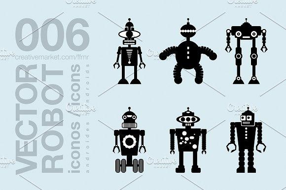 Robots Flat Icons 009