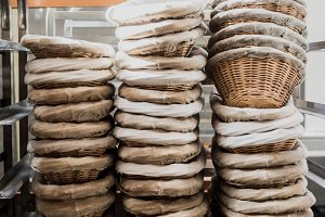 Bread Baskets at a Bakery