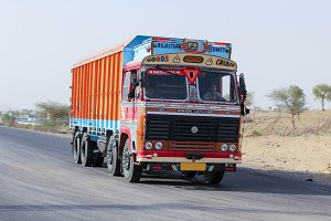Rajasthan India Truck