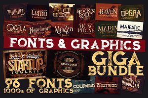 Fonts & Graphics GigaBundle