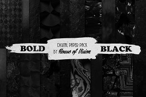 Bold Black Textured Pack