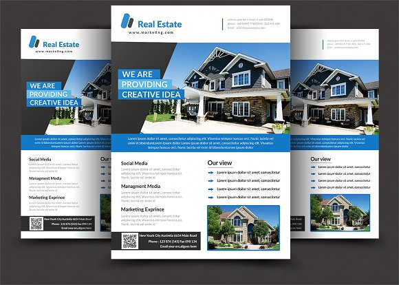 modern real estate flyer flyer templates creative market