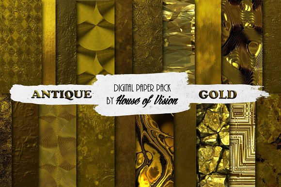 Antique Gold Textured Pack