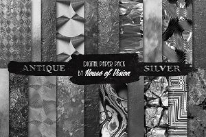 Antique Silver Textured Pack