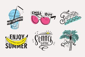 Hand drawn summer vector lettering