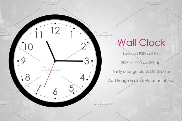 Download Wall Clock Mockup v1