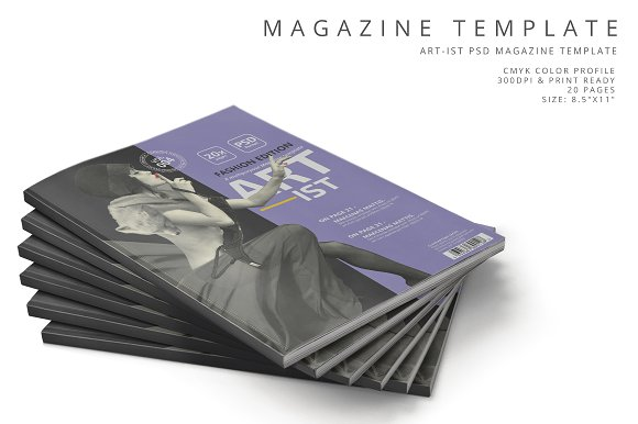 Art-ist Magazine Template Vol.4