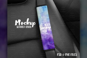 Car Seatbelt Cover Mockup