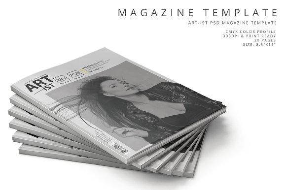 Art-ist Magazine Template Vol.5