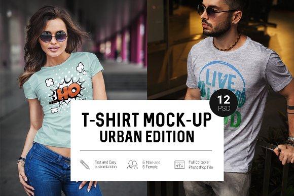Download T-Shirt Mock-Up Urban Edition