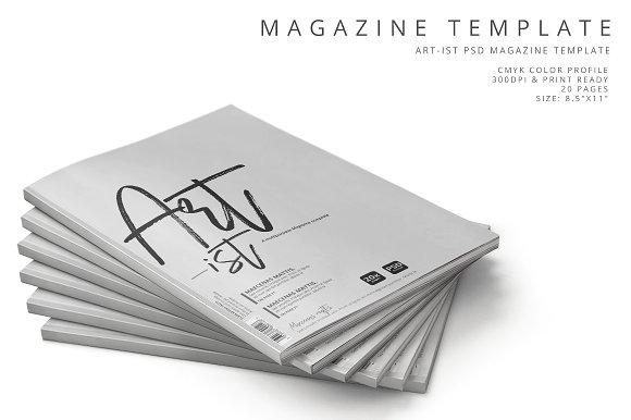 Art-ist Magazine Template Vol.6