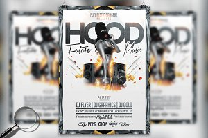 Hood Music | Urban Flyer Template