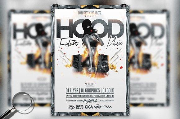 Hood Music Urban Flyer Template