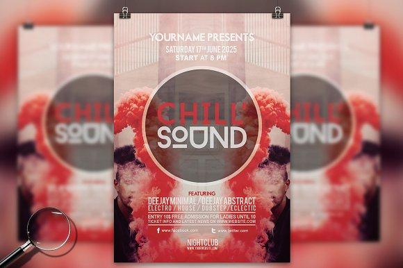 Chill Sound Modern Flyer Template