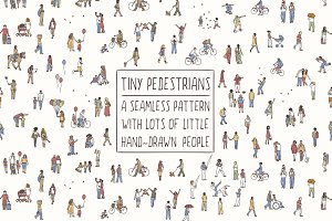 Tiny Pedestrians - Seamless Pattern