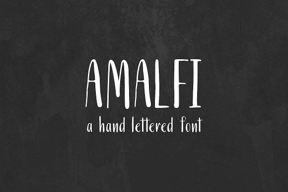 Amalfi. A Cyrillic and Roman Font