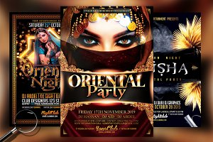 Oriental Bundle | 3 Flyer Templates