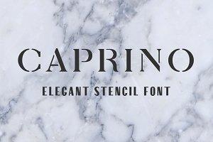 Caprino Stencil Font