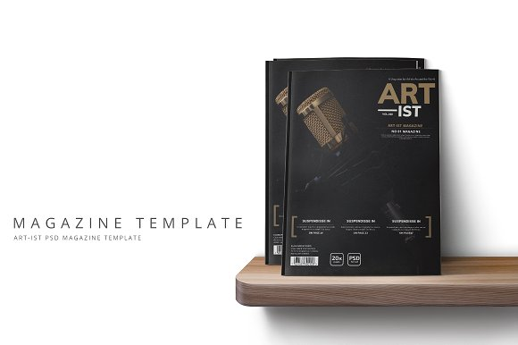 Art-ist Magazine Template Vol.10