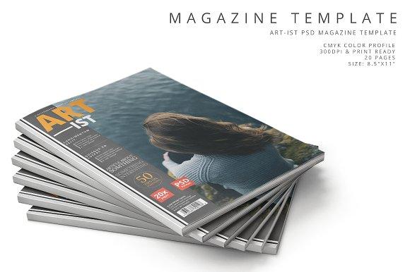 Art-ist Magazine Template Vol.11
