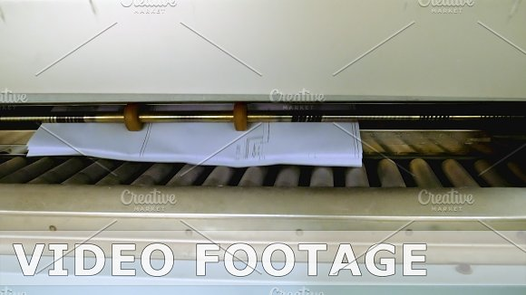 Printing And Folding Machine For Big Size Drawing