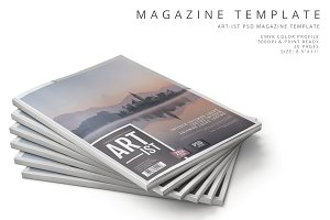 Art-ist Magazine Template Vol.12