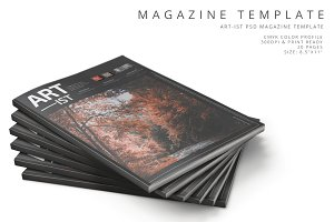 Art-ist Magazine Template Vol.13