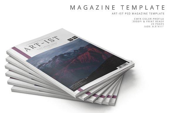 Art-ist Magazine Template Vol.16