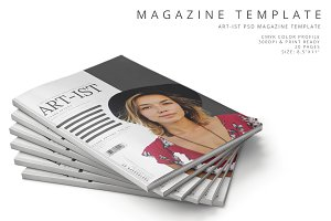 Art-ist Magazine Template Vol.18