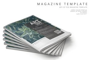 Art-ist Magazine Template Vol.21