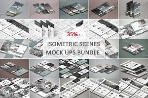Isometric Scenes Mock ups Bundle