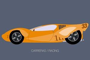 classic race supercar