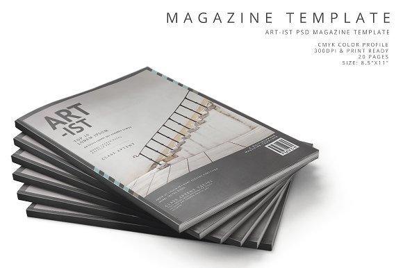 Art-ist Magazine Template Vol.24