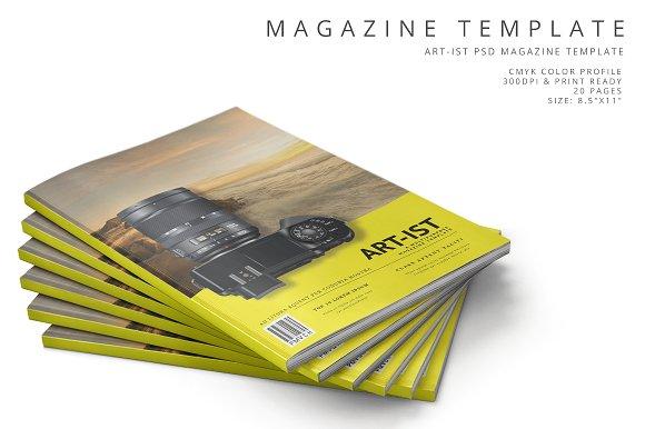 Art-ist Magazine Template Vol.25