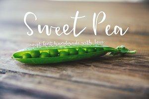 Sweet Pea - Handmade Script Font