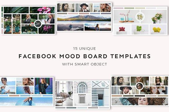 15 Facebook Mood Board Templates ~ Facebook Templates ~ Creative Market